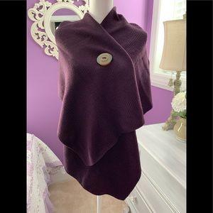Simply Noelle Riverton Wrap Dark Purple new w/tags